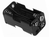 Plastic Battery Holder 4-cell AA Snap-Terminal 2476