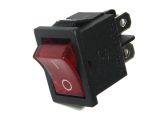 Illuminated Rocker Switch 125VAC/10A 250VAC/6A Red