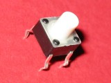 Pushbutton 6x6mm for PCB 7.3mm APEM Components Inc MJTP1230E