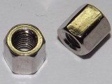 Nickel plated Copper Hex Standoff 5.25mm x 5mm Total 5mm M3 Thread