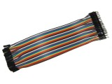 Female/Male Color Ribbon Flat Cable Jumper Dupont 40-wire 20cm 2.54mm