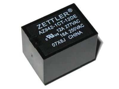 Miniature SPDT Relay 12V - 10A@277VAC AZ942-1CT-12DE