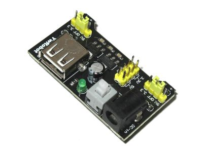 Breadboard Regulated Power Module 3.3V/5V with Switch and Indicator