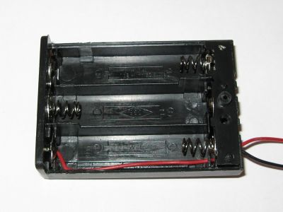 Battery Holder for 3 AA Cells with Switch