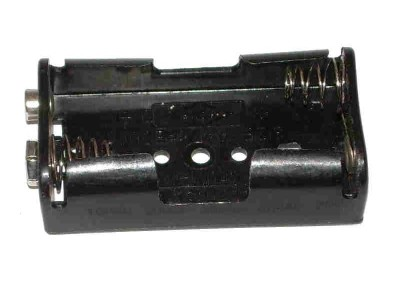 Plastic Battery Holder 2-cell AA Snap-Terminal 2474