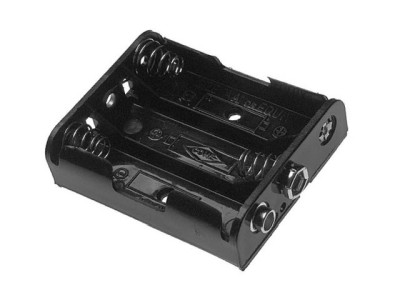 Plastic Battery Holder 3-cell AA Snap-Terminal 2475