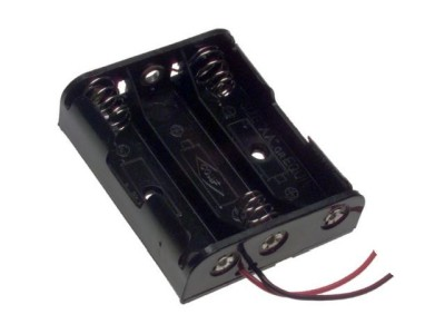 Plastic Battery Holder 3-cell AA Wire Leads 2465