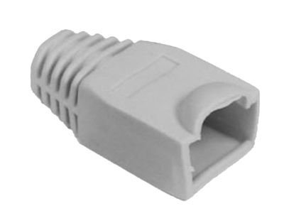 Network Cable CAT5/CAT5E/CAT6 RJ45 Boot/Cap Gray