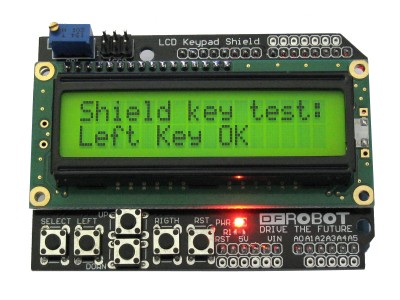 16x2 LCD 1602 Keypad Shield for Arduino Yellow-Green Screen/Backlight