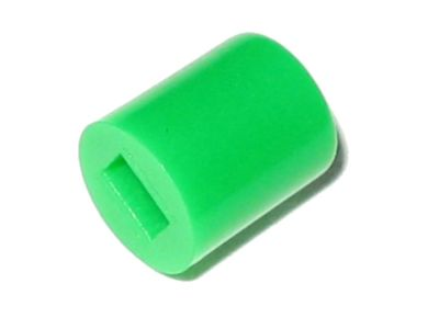 GREEN Button Cap ø6mm x 7mm Hole 2x3mm - Fits 7/8/8.5mm Switch