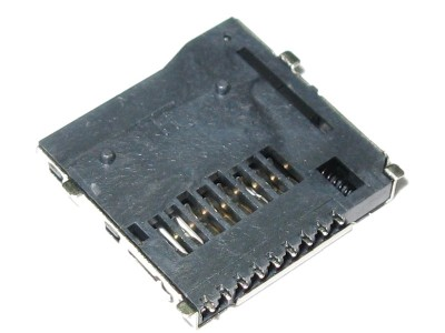 Micro SD Push/Push Socket w/ 9 SMT Contacts