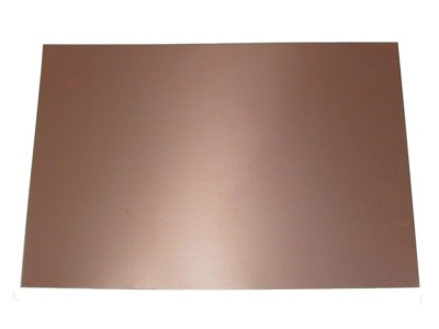 "Copper Clad FR4 .060"" 2-Side PCB 12 x 4⅞"" 1oz/35µm"