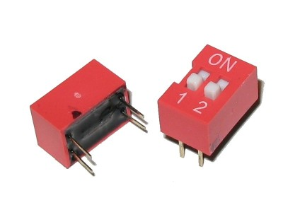DIP Switch ON/OFF SPST 2-positions