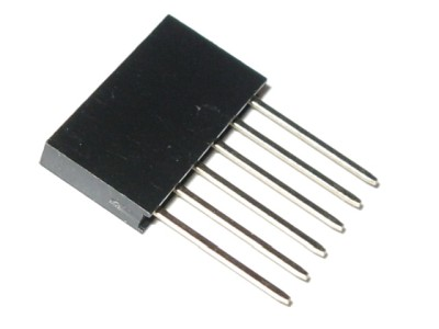 "6-pin 1-row 0.1"" Long Pin Female Header for Arduino Shields"