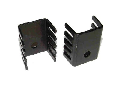 TO220 Heatsink Black Anodized Aluminium 19 x 14 x 10mm