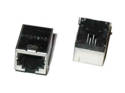 Right Angle Shielded RJ11 6p4c PCB Mount Jack
