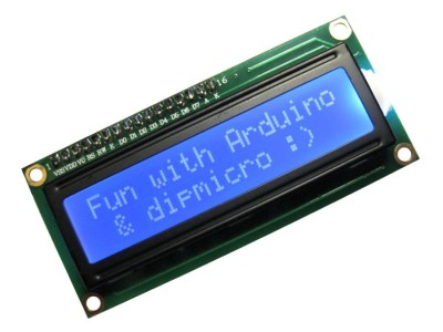 Character LCD 16x2 BLUE Backlight SPLC780/HD44780 with Header