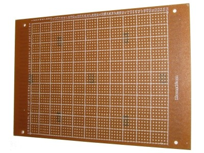 FR1 (Heliotype) Prototyping PCB 180 x 120mm w/ 2520 Pads