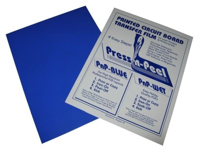 Press-n-peel Blue PCB Transfer Paper/Film Etch Circuit Board Jewelry