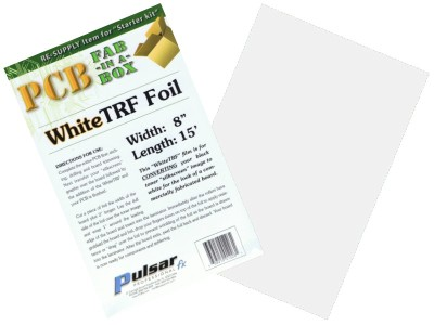 "Pulsar White Transfer Foil (TRF) 8"" x 15' for Printing PCB Silk Screen"