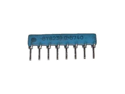 Resistor Network 82k Ohm x4 SIP8 Isolated 823