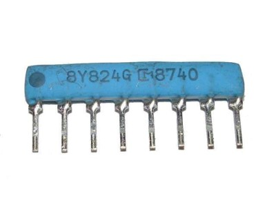 Resistor Network 820k Ohm x4 SIP8 Isolated M82 824