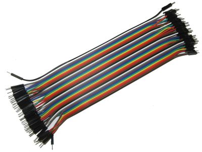 Male/Male Color Ribbon Flat Cable Jumper Dupont 40-wire 20cm 1P-1P 2.54mm